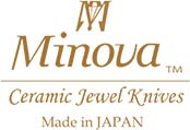 Minova japanese ceramic knives