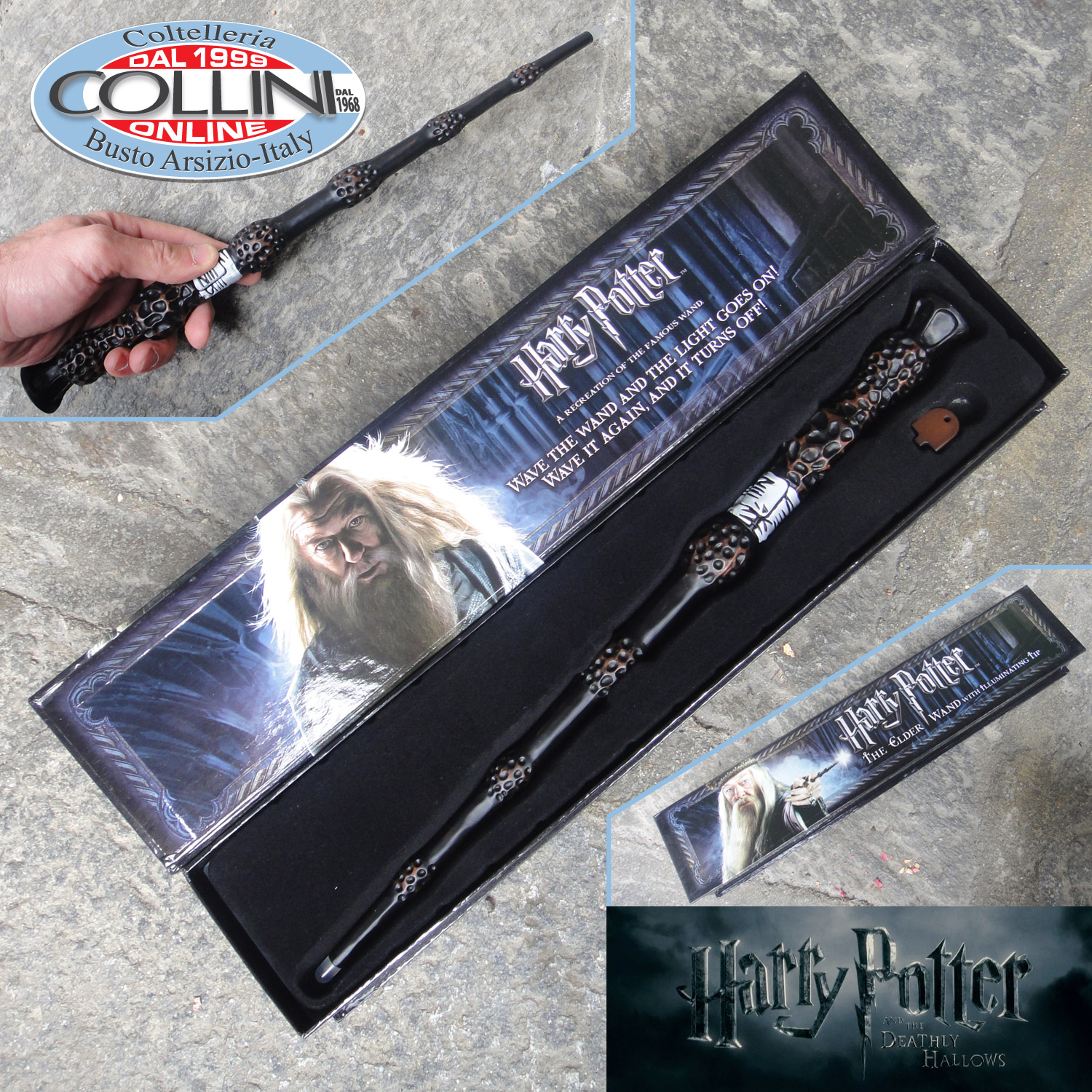 Harry potter magic wand albus dumbledore with light for Dumbledore first wand