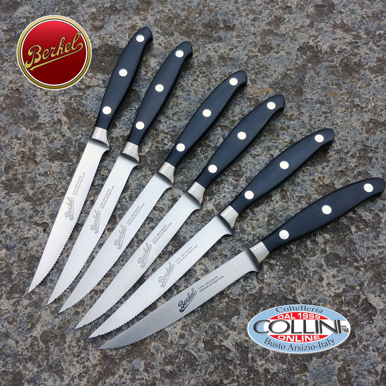 Berkel set 6 cuchillos de carne forjadas cuchillos de mesa for Cuchillos mesa para carne