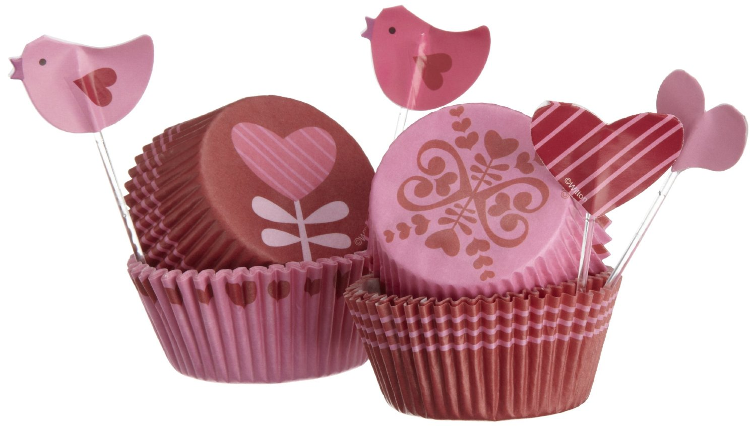 Wilton - Cupcake Decorating - Pirottini Valentine 48 pieces