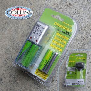 Rexer - Kit Ricaricabile 4x AA 1.2V 2100mAh Ni-MH - accessori torce, caricatore batterie, batterie ricaricabili, Rexer - Kit Ricaricabile 4x AA 1.2V 2100mAh Ni-MH - accessori torce