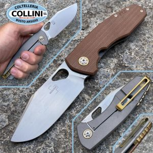 Boker Plus - F3.5 Folder Knife Brown Micarta by Vox - 01BO338 - folding knife