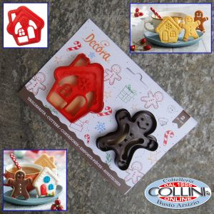 Decora - Cookie Cutter Set: Gingerbread Man and House - 2 pcs