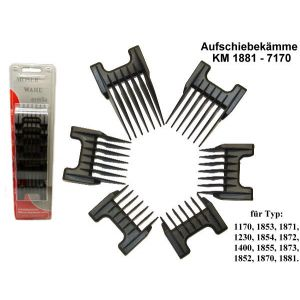 Wahl - Moser - Ermila - Attachment Comb Set for  1170 - 1853 - 1871 - 1230 - 1854 - 1872 - 1400 - 1855 - 1873 - 1852 - 1870 - 1881