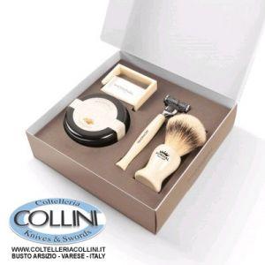 Mondial - Cofanetto da barba Premium - disponibile in nero