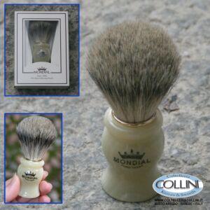 Mondial - Pennello da barba in pelo di tasso - Bianco - Medio 603