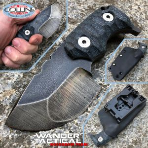 Wander Tactical - Tryceratops Compound - Raw & Black Micarta - coltello custom