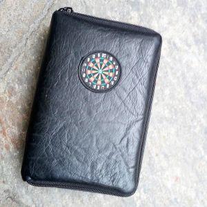 Datadart - Custodia porta freccette e porta accessori - pelle nera