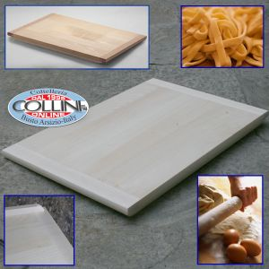Made in Italy - Wood pasta board  75x50x1.2 cm. with case and scraper