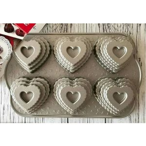 Nordic Ware - Stampo Cuore - Tiered Heart Bundt pan