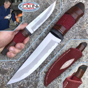 Takeshi Saji - Akai Same Hanta knife - Red Race Skin - Craft Knife