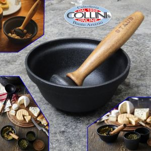Staub - Mortar with pestle in cast iron