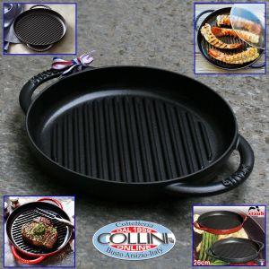 Staub - Pure grill tonda cm. 26 in ghisa