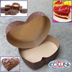 Decora - Stampi per cottura in carta 5 pezzi forma cuore