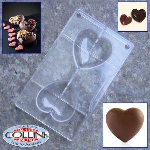 Decora - Hearts chocolate mold  2 pieces