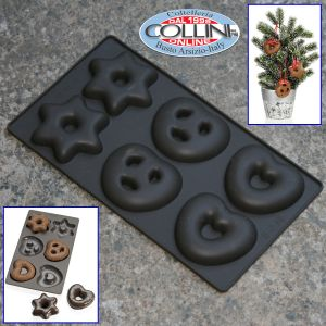 Lurch - Stampo in silicone 6 forme biscotti giganti - 1001idee