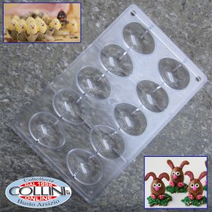 Made in Italy - Stampo per 4 uova da 70 gr - cioccolato