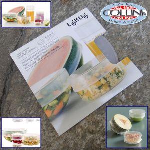 Lékué - Coperchi estensibili 3 pezzi cm. 8,5 - accessorio cucina (articoli casa)