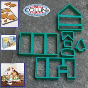 Stadter -Set 7 pieces cookie cutter for  Gingerbread house