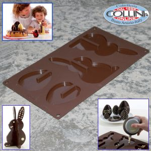 Lékué - 3D Easter Moulds - Egg and Bunny Silicone