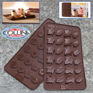 Birkmann - Chocolate mold silicone - flowers and leaves