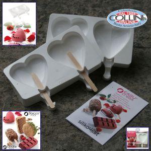Silikomart - Easy Cream Heart-Ice - gelato