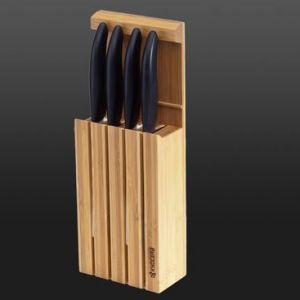 Kyocera - Ceppo in Bamboo per coltelli in Ceramica - 4 posti