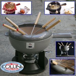 Staub - Set fondue ghisa smaltata 20cm. 1,7lt.