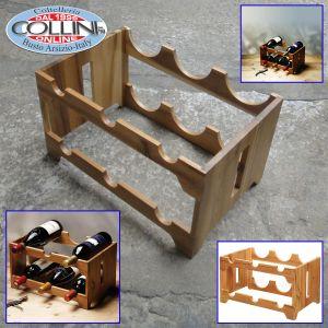KitchenCraft - Natural Elements Acacia Wood Six Bottle Wine Rack