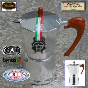 G.A.T. - Caffettiera in  alluminio - Moka Magnifica - 6 tz - anche per induzione