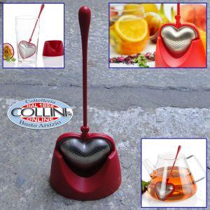 AdHoc BIG HEART Filtro per tè rosso con supporto 22,0 cm