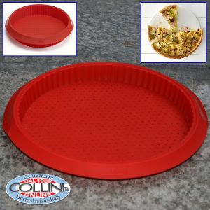 Lékué - Round Pizza - Tappetino da forno in silicone (articoli casa)