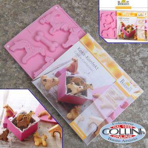 Birkmann - Stampo in silicone per biscotti Gattini - 2 pezzi