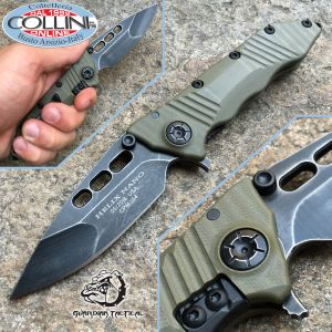 Guardian Tactical Usa - Helix Nano Dark Stonewash G10 OD Green - coltello, knife, cuchillo, messer, couteau