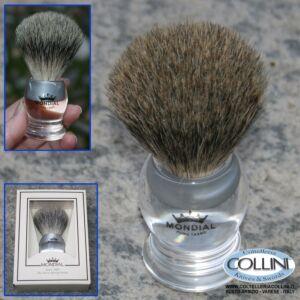 Mondial - Pennello da barba in pelo di tasso - Plexiglass - Grande 908