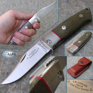 LoneWolf - Loveless Clip Point Folder - coltello