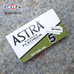 Astra Superior Platinum - 5 Lame in acciaio inox - lamette