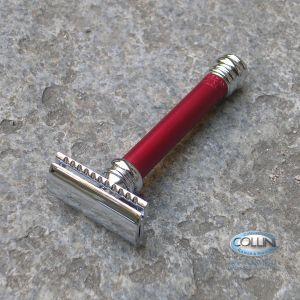 Merkur Solingen - Rasoio di sicurezza Classic Rosso - 90 38 031