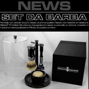 ExtremaRatio - set da barba - shaving kit - pennello e rasoio