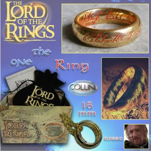 Lord of the Rings, Anello del Potere inc. Rossa, 18mm