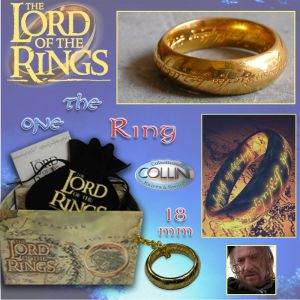 Lord of the Rings, Anello del Potere inc. Oro, 18mm