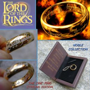 Lord of the Rings, Anello del Potere argento placcato Oro 20mm