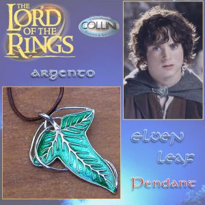 Lord of the Rings - Ciondolo foglia Elfica - Argento 925 - Il Signore degli Anelli