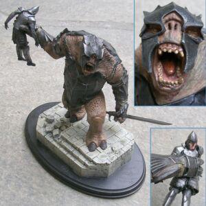 Sideshow Weta - Lord of the Rings - Statua - Battle Troll of Mordor - Il Signore degli Anelli