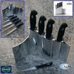 Sanelli - Ceppo 'Snake' con 5 coltelli cucina