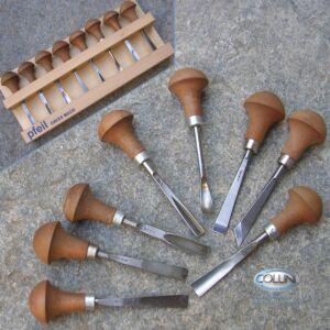 Pfeil - Sgorbie palmari da legno - Set 8 pezzi - B 8er A