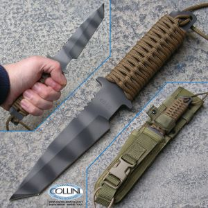 Strider Knives - WB Fixed Blade Tanto Coyote Paracord