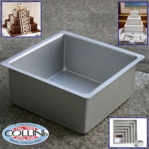 Decora - Square professional aluminum pan cm. 30x30x7,5