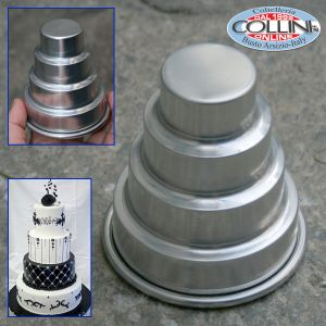 Decora - Aluminum mold for mini cake pan - 4 floors