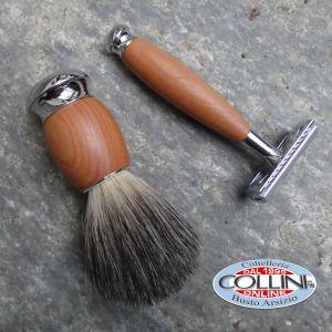 Muhle - Shaving set - plum tree wood